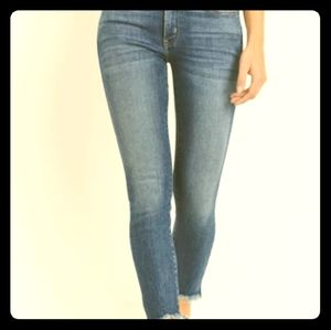 Just USA distressed hem stretch skinny jean